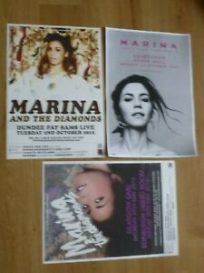 Marina And The Diamonds concert posters Collection of 3 from Scottish gig shows