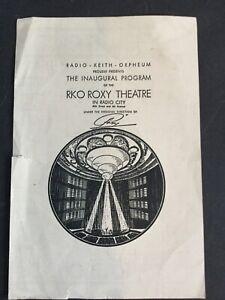 Circa 1932 RKO Roxy Theatre Inaugural Program Art Deco Radio City Rockefeller