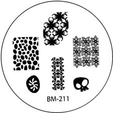 Stamping plaque Bundle Monster BM211 pour vernis ongles
