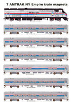 Amtrak New York Empire Service P32ACDM & Train 7 magnets Andy Fletcher