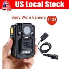 HD 1290P 64GB Body Worn Camera Security DVR IR 140° Motion Detection w/ HD Lens