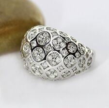 Brillante anello 2,80 ct Colore G, in oro bianco 750, LUSSUOSO (37181)