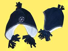 caldo coccolone Inverno cappello Cap- Ragazze -pile blu nuovo taglia unica