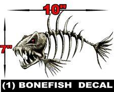 1 LARGE BONEFISH BONE FISH FOR SKEETER RANGER LUND FISHING BASS BOAT DECALS
