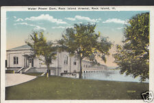 America Postcard - Water Power Dam, Rock Island Arsenal, Illinois 1909