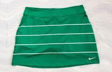 Nike Womens Golf Dri-fit Striped Skort Large L Green White New