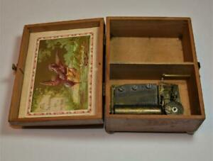 Antique Thorens Swiss 42 Notes wooden Music Box To The Chosen of my Heart