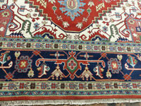 "10'x14'6"" New Fine hand knotted wool Super Serapi Herizz Oriental geometric rug"