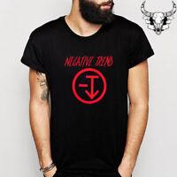 Negative Trend Punk Rock Band Logo Men's Black T-Shirt Size S to 3XL