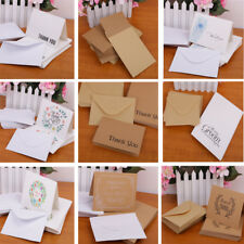 50pcs Pack Thanks Cards with Envelopes Greeting for Party Baby Shower Decor