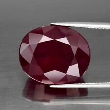 RARE & UNUSUAL 11x9mm OVAL-FACET DEEP RED/PURPLE NATURAL INDIAN RUBY (APP £802)