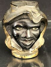 "Cast Iron ""Two Faced Black Boy"" Small Still Bank - A.C. Williams c. early 1900s"