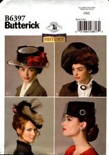 Butterick Sewing Pattern B6397 6397 Making History Historical Misses Hats NEW