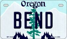 Bend Oregon State Background Novelty Motorcycle Plate