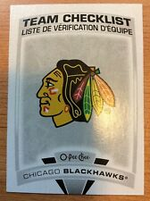 O-Pee-Chee 2019-2020 CHICAGO BLACKHAWKS TEAM CHECKLIST HOCKEY CARD #557