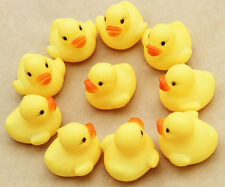 10 NEW Small Kids Duck Toy Bath Fun Floating Water Bath Rubber Ducks UK Seller