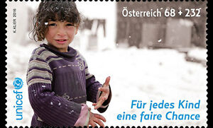 UNICEF mnh semi-postal stamp 2016 Austria  Support for Syria & area refugee aid