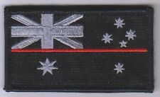 Thin Red Line Patch, Fire Brigade, Black, Hook Rear Patch