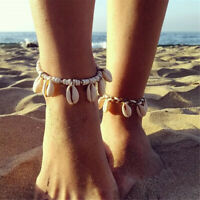 Boho Women Bead Shell Anklet Ankle Bracelet Barefoot Sandal Beach Foot Jewelry K