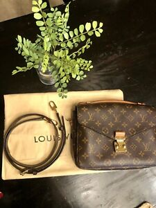 Louis Vuitton Monogram Pochette Metis Brown Monogram Crossbody Shoulder Bag