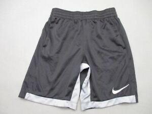 Nike Size M(10-12) Boys Black Athletic DriFit w/Pockets Sport Track Shorts T473