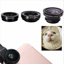 Wide angle Fisheye Lens 3 in1 for iphone 5 6 samsung Peixe Para Celular Lentes