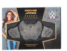 WWE Mickie James 2017 Topps Women's Divas Title Belt Plate Relic Card SN 7 of 50