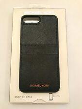 Michael Kors Saffiano Leather Pocket Case Cover for Apple iPhone 7 Plus - Black