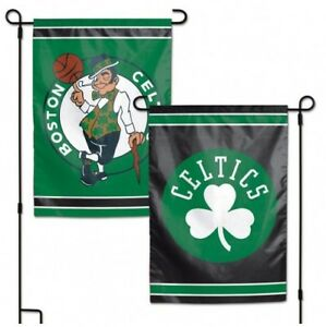 """BOSTON CELTICS 2 SIDED 12""""X18"""" GARDEN FLAG NEW & OFFICIALLY LICENSED"""