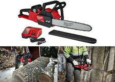 "Milwaukee M18 FUEL 16"" 18v Lithium-Ion Battery Brushless Cordless Chainsaw Kit"