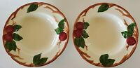 Franciscan Earthenware Apple Rim Soup Bowls Set of Two (2) Made in USA 8 1/2""