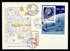 DR WHO 1987 POLAND FDC SPACE CACHET S/S REGISTERED  g42423