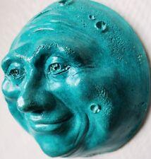 Turquoise Full Moon Wall Sculpture, Handmade Fine Artwork, Sale Price Offer