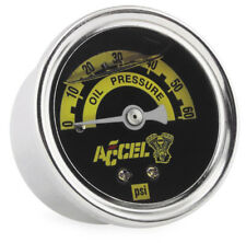 Accel Oil Pressure Gauge For Harley-Davidson - Liquid Filled - 0-60 PSI