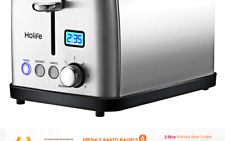 Holife Toaster 2 Slice, Stainless Steel Toaster Bagel Toaster with Digital Di.