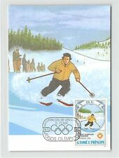 S. TOME MK 1984 OLYMPIA SARAJEVO OLYMPICS CARTE MAXIMUM CARD MC CM m268