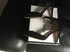 Nine West Howley Black Suede Heels Size UK 8 BNIB. £95.00