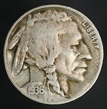 1936-P Buffalo Nickel DDO-001 Nice Bold Thick Double Die Obverse On Date! GC551