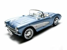1957 CHEVROLET CORVETTE BLUE 1/18 DIECAST CAR MODEL BY ROAD SIGNATURE 92018
