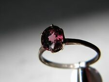 Myanmar Burma Pinkish Purple Spinel Solitaire Ring 2.4ct, 9x7mm sz 9, Silver925