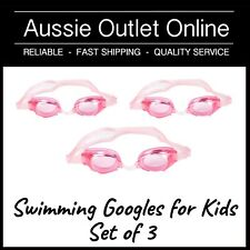 3x PINK Swimming Goggles for Kids No Leak Anti Fog - Aussie Outlet Online