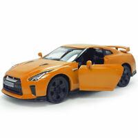 1:36 Nissan GTR R35 Model Car Diecast Toy Pull Back Vehicle Doors Open Orange