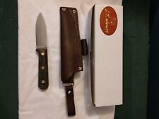 LT Wright Knives Genesis - Flat Grind - Black Canvas Micarta - Brass Corby Bolts
