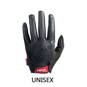 HIRZL Grippp Tour Black Full Finger 2.0 Leather Gloves for Bicycle