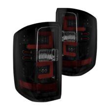 For Chevy Silverado 3500 15-18 Recon Black/Smoke Fiber Optic LED Tail Lights