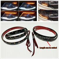 2 Pcs 48 LED Built-in Decoder Car Headlight Taillight Flowing Turn Signal Light