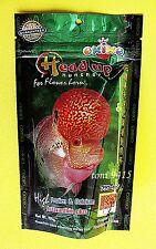 Best Flowerhorn Hea Up Okiko Huncher Fish Platinum Quick Green Fish Food 100 g.