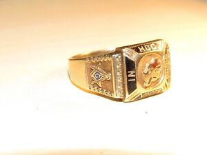 "BOLD! ca. 1800s or earlier ""IN HOC SIGNO VINCES"" Mason Knights Templar 10K RING!"