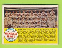 1958 Topps - Milwaukee Braves Team Card (#377)