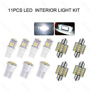 11x Super White T10 & 31mm LED Interior Package Kit Map Dome Light Festoon Bulbs